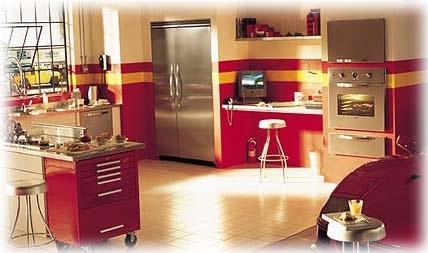 Так элитный холодильник General Electric выглядит в интерьере